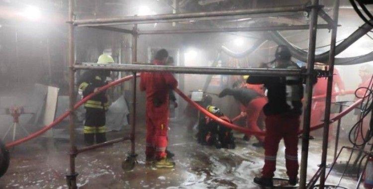 Gemide çıkan yangın söndürüldü