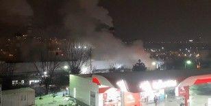 İzolasyon malzemeleri üreten fabrikada çıkan yangın söndürüldü
