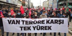 Vanlılardan Gara'da 13 Türk vatandaşının şehit edilmesine tepki yürüyüşü