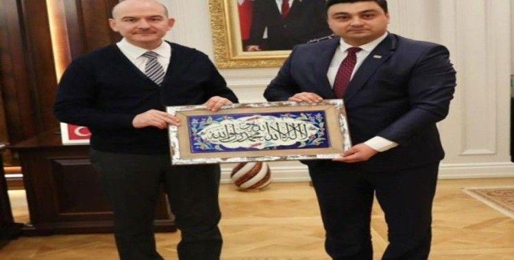 İçişleri Bakanı Soylu'ya anlamlı ziyaret
