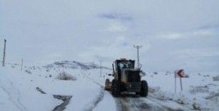 Büyükşehir'den ilçelerde kar mücadele çalışması