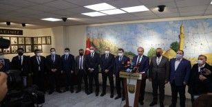 Şanlıurfa'daki belediye başkanlarından Beyazgül'e destek