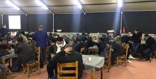 Menderes'te kumar baskını; 168 hakkında işlem yapıldı