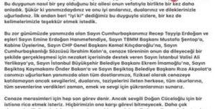 Doğan Cüceloğlu'nun ailesinden teşekkür paylaşımı