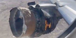 ABD'de yolcu uçağının motoru alev aldı