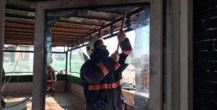 Elazığ'da teras yangını