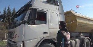 Arnavutköy'de hafriyat kamyonlarına yönelik denetim