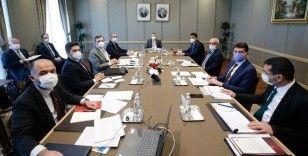 Cumhurbaşkanı Yardımcısı Oktay, bakanlar Gül ve Kurum ile TOBB Başkanı Hisarcıklıoğlu'nu kabul etti