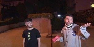 Kısıtlamayı delip kaza yapan gençlerden gazetecilere tepki