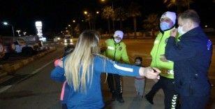 Kaza yapan kadından gazetecilere akıl almaz tehdit