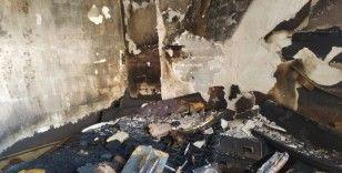 Kızıltepe'deki otel yangınında müşterilerin kaçış anı güvenlik kamerasına yansıdı