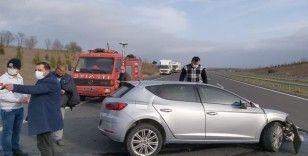 Kırklareli'nde trafik kazası: 1 kişi yaralandı