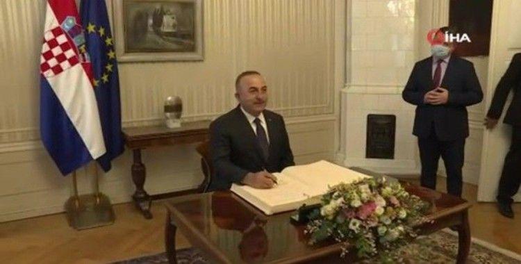 Bakan Çavuşoğlu, Hırvatistan Başbakanı Plenkoviç ile görüştü