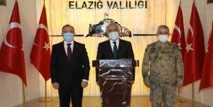 Bakan Yardımcısı Ersoy ve Jandarma Komutanı Çetin Elazığ'da