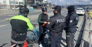 Beşiktaş'ta kısıtlama denetimleri sürüyor