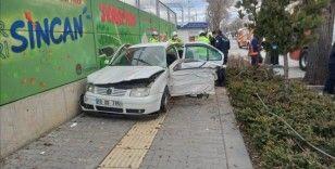 Başkent'te trafik kazası: 1 kişi ağır yaralandı