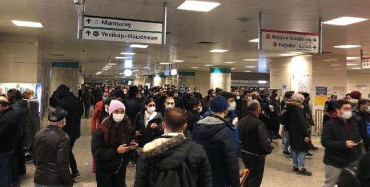 Yenikapı metro hattında teknik arıza