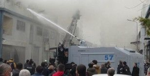 Terörün kökü kazındı, TOMA'lar yangına müdahale etmeye başladı