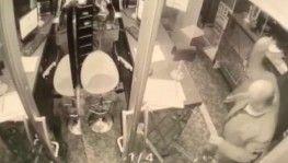 Ataşehir'de satırlı saldırganın otel bastığı anlar kamerada