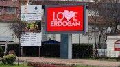 Zonguldak'ta LED ekranlara 'Love Erdoğan' görseli yansıtıldı