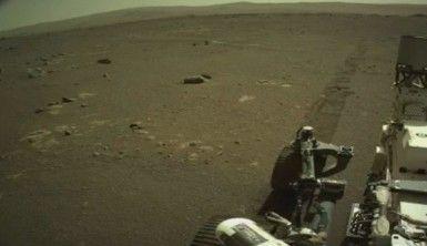 NASA, Mars kaşifinin yüzeydeki ilerleyişinin ilk sesini yayınladı