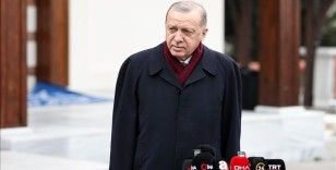 Cumhurbaşkanı Erdoğan: Aşılama çalışmalarını mayıs-haziran gibi bitirmeyi ve yaza huzurlu girmeyi temenni ediyoruz