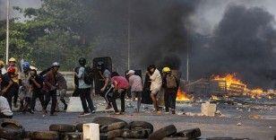 Myanmar'da bugün düzenlenen protestolarda ölenlerin sayısı 56'ya yükseldi
