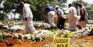 Brezilya'da son 24 saatte Kovid-19 nedeniyle 3 bin 500'den fazla kişi öldü
