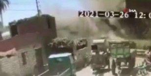 Mısır'da trenlerin çarpıştığı anın görüntüsü ortaya çıktı