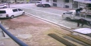 Esenyurt'ta inşaattan demir hırsızlığı kamerada