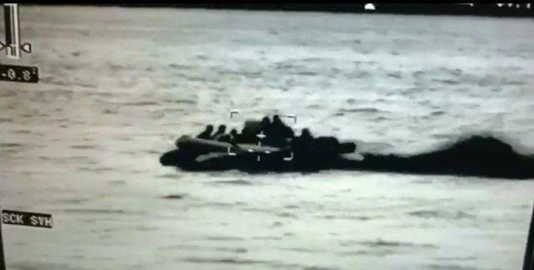 Mersin açıklarında 12 düzensiz göçmen yakalandı
