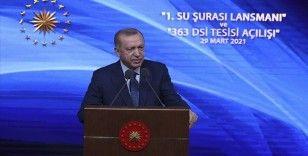 Erdoğan: Son 19 yılda su konusunda 255 milyar lira yatırımla Cumhuriyet tarihinin rekoru kırıldı