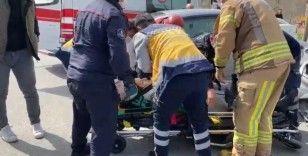 Ataşehir'de feci kaza: 1 yaralı