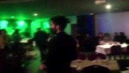 Otel restoranında eğlenceye polis baskını