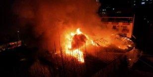Kahramanmaraş'ta askeri kışla içerisinde yangın