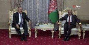 Bakan Çavuşoğlu, Afganistan Cumhurbaşkanı Gani ile görüştü