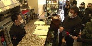 Şişli'de kafe ve restoranlara koronavirüs denetimi