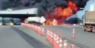 Deodorant yüklü kamyon patladı: 4 ölü, 8 yaralı