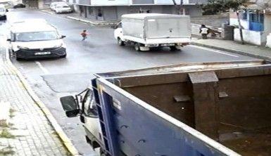Minik Hızır Ali Günden'in hayatını kaybettiği kaza güvenlik kamerasında