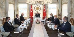 Cumhurbaşkanı Erdoğan, Azerbaycan Başbakan Yardımcısı Şahin Mustafayev'i kabul etti