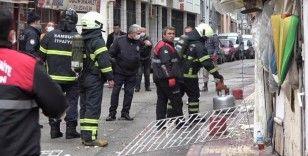 Tüpten sızan gaz bomba gibi patladı, mahalle ayağa kalktı
