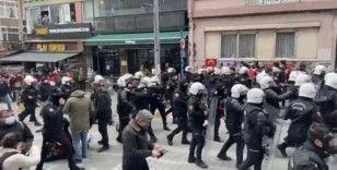 Kadıköy'de toplanan öğrencilere polis müdahalesi gerçekleşti, gözaltına alınanlar var