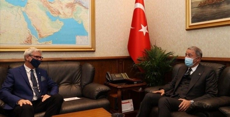 Bakan Akar, Letonya Büyükelçisi Vaivars'ı kabul etti