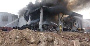İplik fabrikasında çıkan yangın, 5 saatlik çalışmada kontrol altına alındı