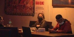 Ataşehir'de kısıtlamada açık olan eğlence mekanına baskın