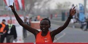 İstanbul Yarı Maratonu'nda Kenyalı atlet Ruth Chepngetich'ten dünya rekoru
