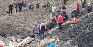 Kaçak maden ocağında mahsur kalan işçi çıkarıldı