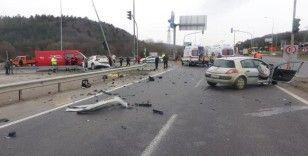Bolu'da feci kaza: 1 ölü, 3 yaralı