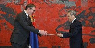 Türkiye'nin yeni Belgrad Büyükelçisi Aksoy güven mektubunu sundu