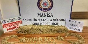 Manisa'da 1 kilo 850 gram bonzai maddesi ele geçirildi